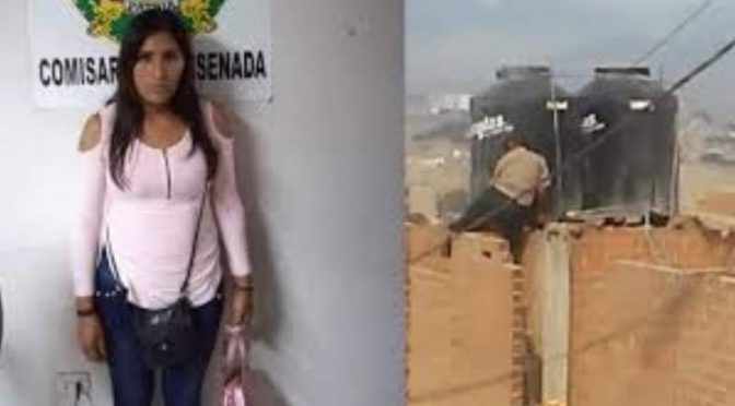Una mujer encerró a sus hijas en un tanque de agua y fue detenida ( Canal 13 San Juan)