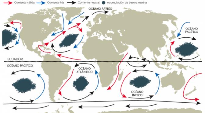 Estas son las islas de plástico que contaminan mares y océanos (Ecoportal)