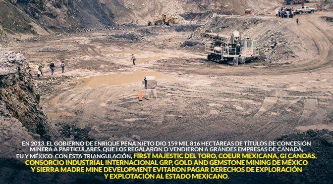 Mineras de Canadá, EU y México se quedaron miles de hectáreas con EPN y huyeron de pagar derechos (Sin Embargo)