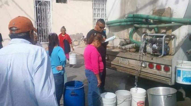 """""""Es feo vivir sin agua"""", vecinos de Cactus (El Sol de San Luis)"""