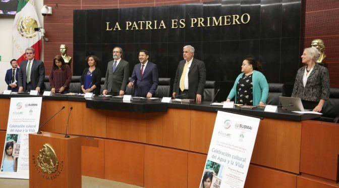 Necesario, un dique legal para evitar privatización del agua: Martí Batres (Comunicacion Senado de la Republica)