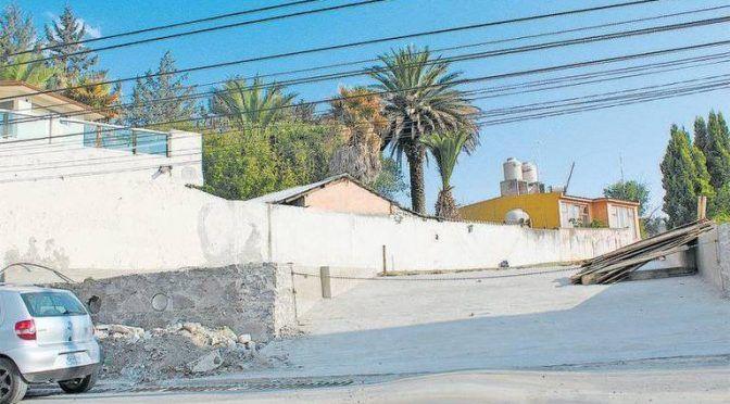 Construyen casas sobre canales de agua pluvial, en Apizaco (El Sol de Tlaxcala)