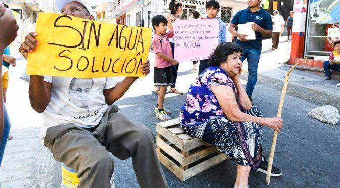 Guerrero: Sigen protestas por desabasto de agua (El Sol de Acapulco)