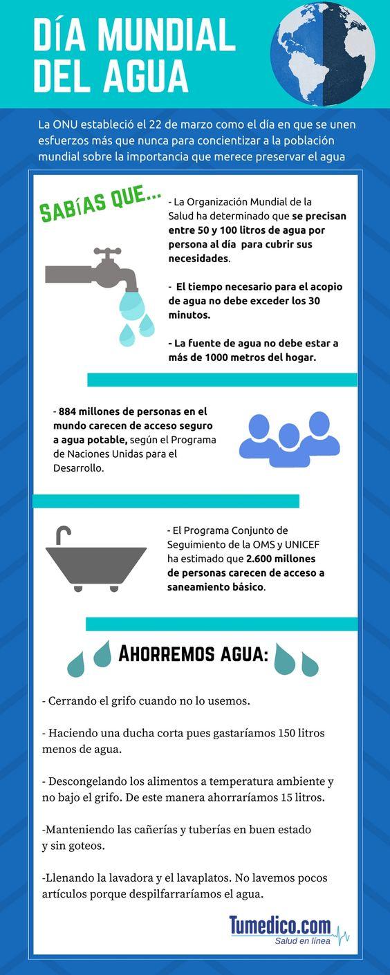 Información sobre el Día Mundial del Agua (Infografía)