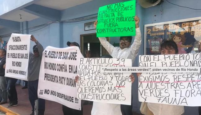 Vecinos de Río Hondo, Naucalpan, rechazan nuevas construcciones (El Universal)