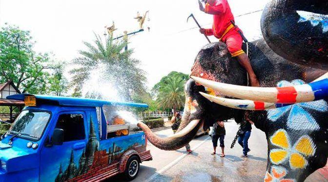 Tailandia: en este país celebran año nuevo con una masiva ¡guerra de agua! (Uno TV)
