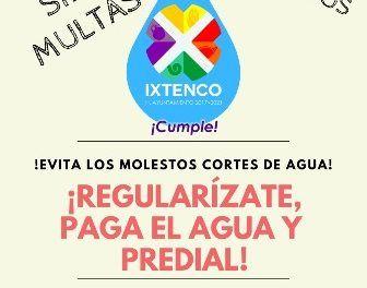 """Tlaxcala: Inicia en Ixtenco capaña """"Regularízate, paga el agua y predial"""" (Linea de contraste)"""