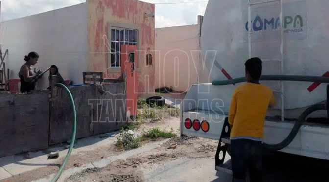 Tamaulipas: Crece desesperación por desabasto de agua (El diario de Tamaulipas)