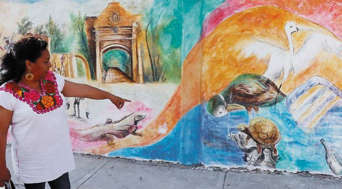 Morelos: Exponen ambientalistas en murales la ruta del agua (Diario de Morelos)