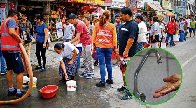 Cortarán agua en 18 distritos por obras en la línea 2 del metro (Ojo)