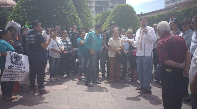 Guanajuato: se manifiestan por suministro de agua; hablará Noroña con Santillana (Milenio)