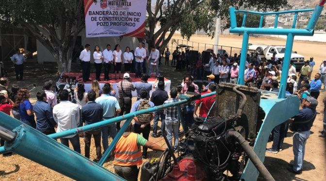 Chiapas: Inician en Motozintla perforación de pozo profundo para abatir escasez de agua (Noticias de Chiapas)