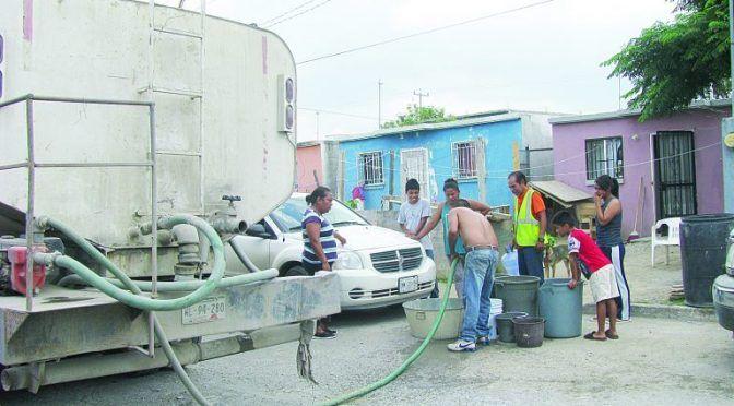 Nuevo Laredo: Pasaron 8 días sin agua 6 mil familias (El Mañana)