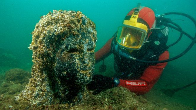 Heracleion: la asombrosa historia de una grandiosa ciudad del antiguo Egipto que se hundió en el mar (BBC)