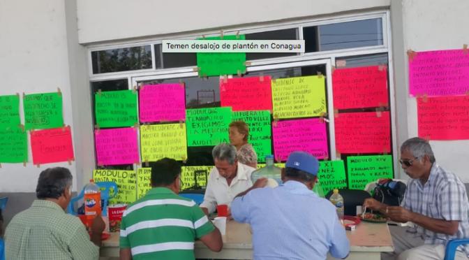 Coahuila: Temen desalojo de plantón en CONAGUA (El Siglo de Torreón)