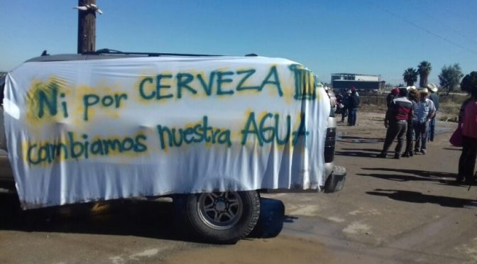 Baja California: A pesar del fallo a favor de cervecera en Mexicali, colectivos mantendrán la lucha por el agua (desinformemonos)