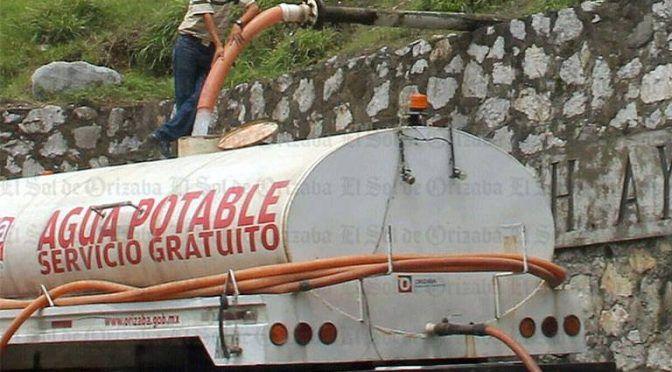 Veracruz: recurren al tandeo; disminuyó 50% captación de agua en Orizaba (El Sol de Orizaba)