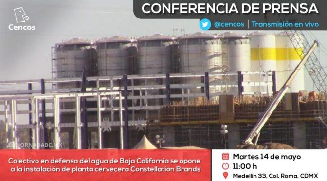 Baja California: Colectivo en defensa del agua se opone a la instalación de planta cervecera Constellation Brands (cencos)