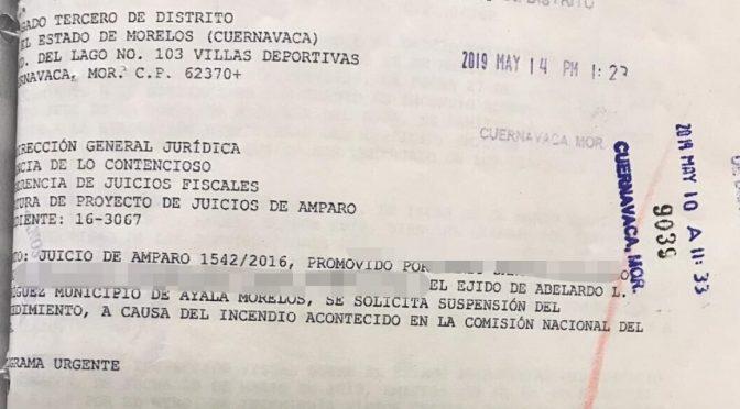 Morelos: Incendio en CONAGUA paraliza juicio  sobre la termoeléctrica en Huaxca (Quadratin)