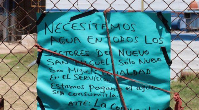 Sinaloa: Pobladores del Nuevo San Miguel reclaman el desabasto de agua (Línea Directa)