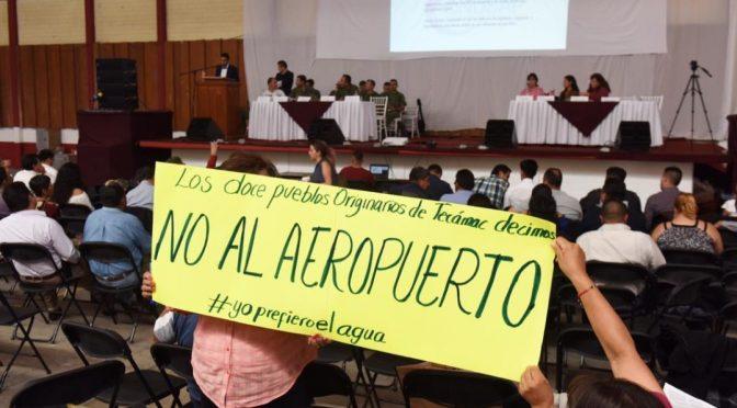 Estado de México: Audiencia Santa Lucía: Sedena se aferra a la MIA ante el rechazo de comuneros y académicos (Proceso)
