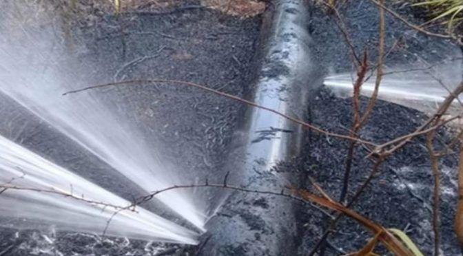 Incendio deja a Yucatan a más de 8 mil habitantes sin agua (El Universal)