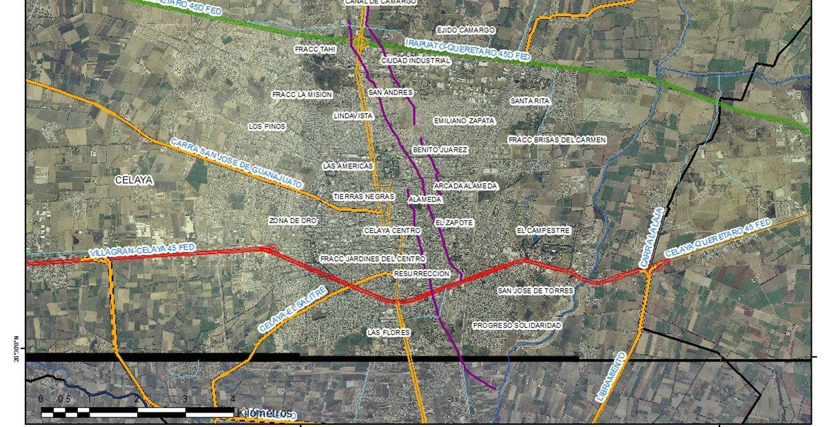 Guanajuato: Se fractura el municipio con 13 fallas geológicas (Períodico el correo