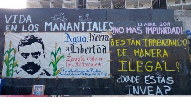 CDMX: protestan contra el uso político de agua y daño ambiental (Regeneración)