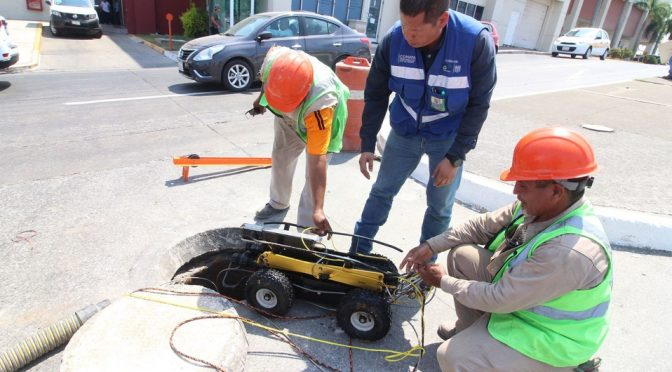 Tampico: Usan robot para remediar problemas de socavones (Milenio)