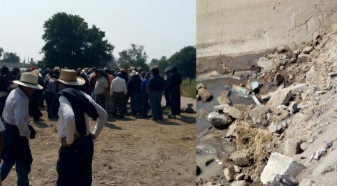 Puebla: Canal de aguas negras enfrenta a pobladores y campesinos (Municipios)