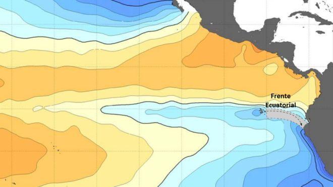 Cambio climático: la lengua fría ecuatorial, el misterioso lugar del Pacífico donde el agua no se calienta como en el resto del planeta (BBC News)