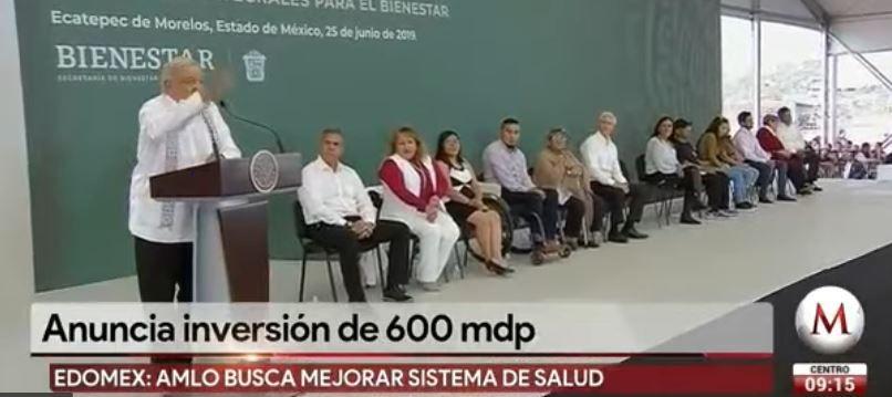AMLO anuncia plan para mejorar colonias en Ecatepec (Milenio)