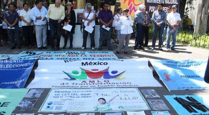 Puebla: Clausuras y plantones para pedir municipalización del servicio de agua (El Sol de Puebla)