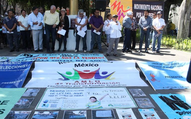 Pueblas: Clausuras y plantones para pedir municipalización del servicio de agua (El Sol de Puebla)