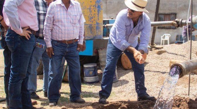 En Aguascalientes, entregan pozo de agua en Cosío (LJA)