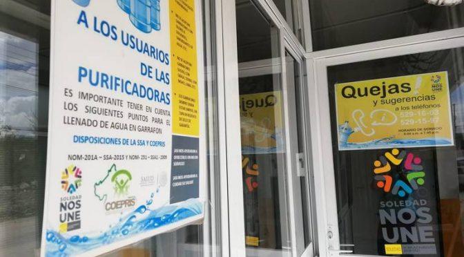 San Luis Potosí: Purificadoras de agua gratuita, operan normal (El Sol de San Luis)