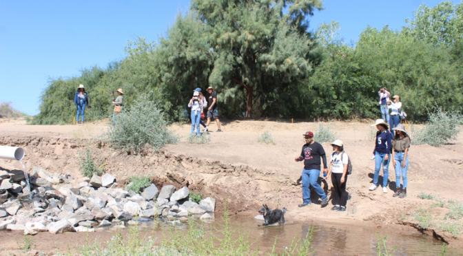 Mexicali: Se benefician sanluisinos con agua del río Colorado (La Voz)