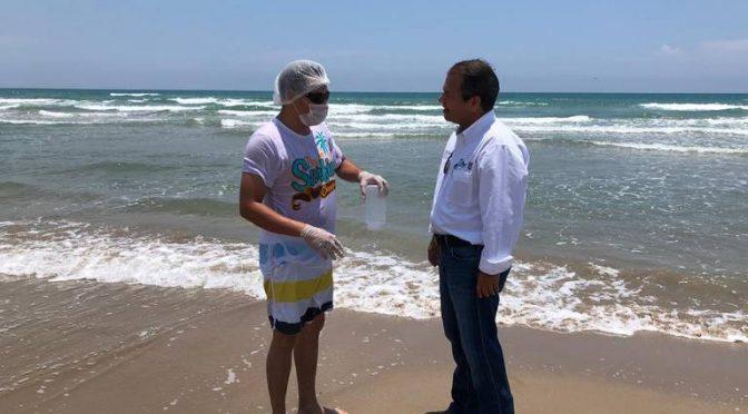 Tampico: Revisan la playa para verificar calidad del agua (El Sol de Tampico)