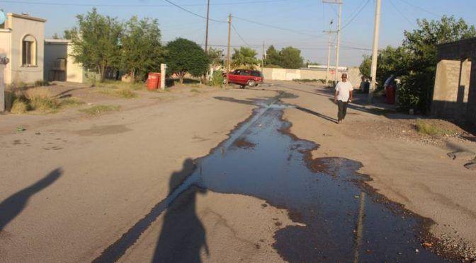Chihuahua: Exigen reparación de fugas de agua (El Mexicano)