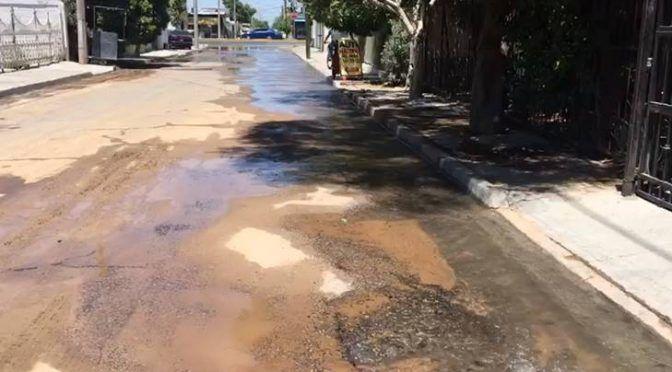 Sonora: Fuga de agua potable en la colonia Progresista recorre varias calles (Expreso)
