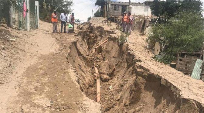 Chihuahua: reparó JMAS fuga de agua potable en Anapra (Puente Libre)