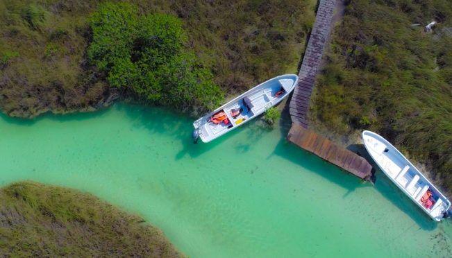 Quintana Roo: Sian Ka´an: nada en sus canales azul turquesa, cerca de Tulum (El Universal)