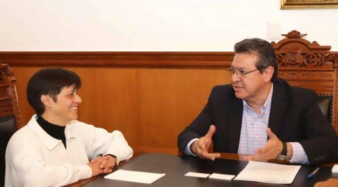 Tlaxcala: Marco Mena y Directora de Conagua Acuerdan Inversión en Obras y Saneamiento (Código Tlaxcala)