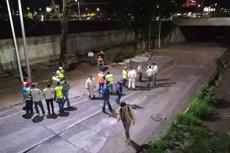 Guadalajara: Agua que se infiltraba ahora fluye por Patria (El Diario NTR)