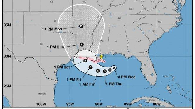 EE.UU:   Luisiana en alerta ante huracán en Golfo de México (Excelsior)