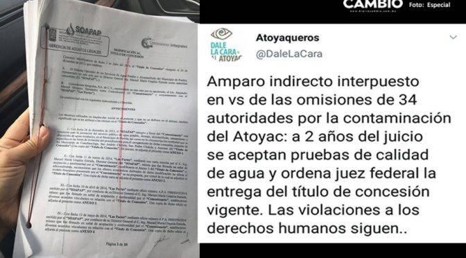 Puebla: Ordenan entrega total del título de concesión de agua (4cambio)