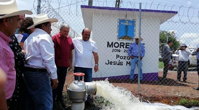 Morelos: entregan rehabilitación de obra hidráulica en Oacalco (La Unión)