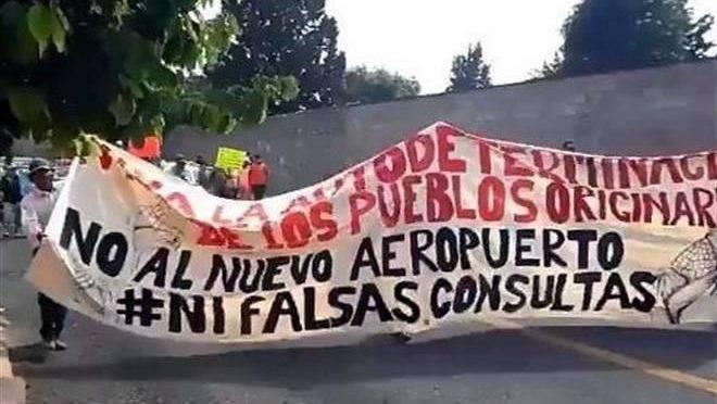 Edomex: Grupos originarios mantienen resistencia contra Santa Lucía (El Universal)