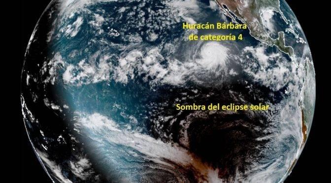 """CDMX: Huracán """"Bárbara"""" en el océano Pacífico sube a categoría 4 (La Jornada)"""