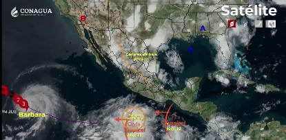 CDMX: Lluvias fuertes, actividad eléctrica y granizo en gran parte del país (La Jornada)